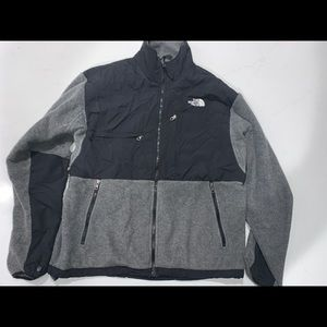 North Face grey and black